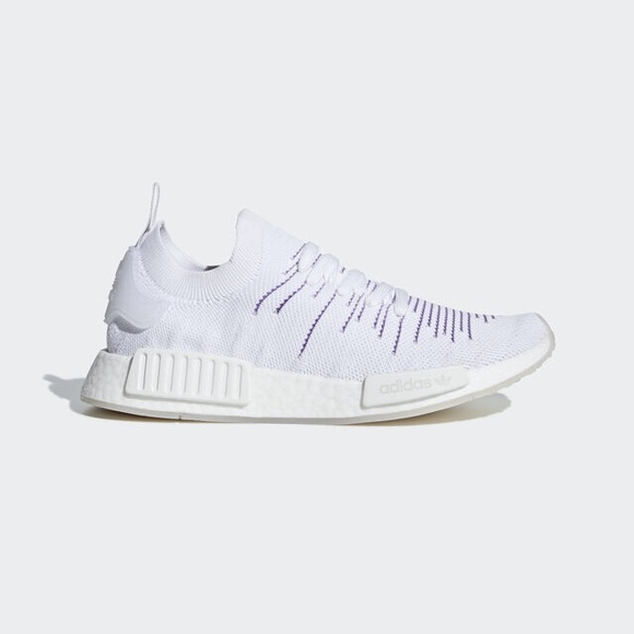Adidas Shoes Nmd R1 Stlt Pk Primeknit Cloud White Purple Poshmark